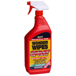 EVERBUILD WONDER WIPES SPRAY 1 LITRE MULTI PURPOSE CLEANER PVC STAIN REMOVER