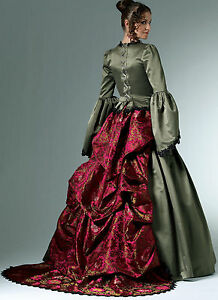 PATTERN for Victorian Laced Dress Bustle Skirt Costume McCalls 6097 Wedding 6-20