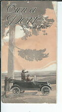 AX-113 - Own a Dort Automobile, 1915-1924 Advertising Brochure Illustrated Rare