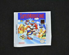 Gameboy Color Super Mario Land Replacement Label Decal Glossy Sticker