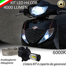 KIT LAMPADA LED H4 COB 4000 LUMEN 6000K 12V PER HONDA SH 125 150 LUCE BIANCA