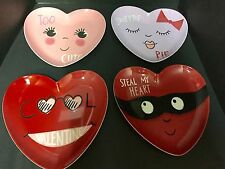 4 Pottery Barn Kids VALENTINE'S Day PLATE Kitchen Table Party Heart GIFT NEW