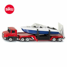 1/64 Scale Siku Metal Diecast Truck LOW LOADER WITH BOAT 1613 Vehicles Model Toy