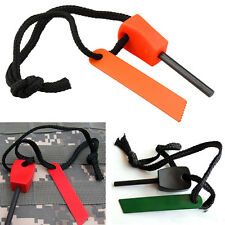 Outdoor Travel Survival Magnesium Flint Stone Fire Starter Lighter Kit Tool New
