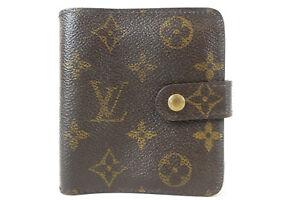 LOUIS VUITTON Compact Zippy Monogram wallet M61667
