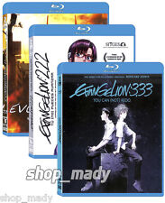 Pack Evangelion 3 Movies Blu-ray en ESPAÑOL LATINO Region Free (Multiregion) New