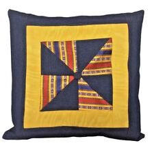 "Kutnu & Denim Blue Patchwork 18x18"" Decorative/Throw Pillow Case / Cushion Cover"