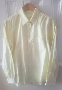 Helmut Lang Made in ITALY Yellow 100% Cotton Button Down Dress Shirt 16/41