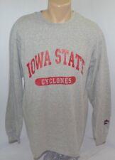 Vtg Iowas State Cyclones Isu Ncaa Gray Long Sleeve T Shirt Mens L Usa Made