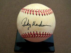 RICKEY HENDERSON A'S YANKEES HOF ROOKIE SIGNED AUTO VINTAGE OAL BASEBALL JSA