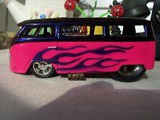 CUSTOM > made  HOT ROD  vw  drag  VAN / BUS / HW /  hot wheels..1 of  a kind .