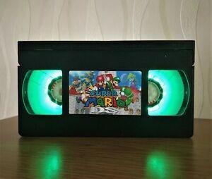 Super Mario VHS Night Light, Bed Light, Desk Light, Nintendo, Computer Game, TV