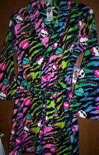 MONSTER High Soft Plush Rainbow Colored Bath Robe Girl's 10/12 NeW Bathrobe