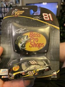 2004 #81 Tony Stewart Bass Pro Shops 1:64 Winner's Circle NASCAR Diecast Hood
