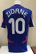 Francia Hogar Camiseta De Fútbol Jersey Zidane 10 L Grande 2006/07 de la Copa del Mundo Azul