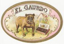 Colorful El Guardo Bulldog Vintage Cigar Label
