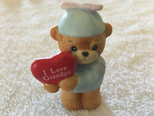 Lucy & Me Valentine Boy Bear Holding I Love Grandpa Heart Lucy Rigg 1986