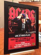 "2 FRAMED AC/DC AC DC ""LIVE AT RIVER PLATE"" LIVE LP ALBUM CD DVD PROMO ADS"