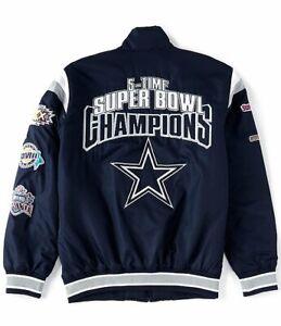 Dallas Cowboys NFL Quarterback Varsity Commemorative Full-Zip Jacket - Navy