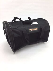 Petmate Soft Sided Pet Carrier: Kennel Cab I Black I For Pets Up to 15lbs (LM32)