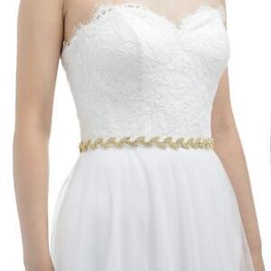 Handmade Leaf Crystal Wedding Belt Bridal Sash for Evening Dresses Accessories