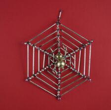 Alter Gablonzer Christbaumschmuck - Spinne im Netz   (# 7189)