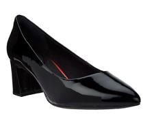 Rockport Total Motion Patent Leather Block Heel Pumps Salima Black Size 10 New