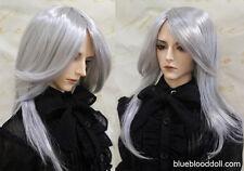 "1/4 bjd 7-8"" msd doll head silver color long wig Luts Iplehouse W-JD157SM1002M"