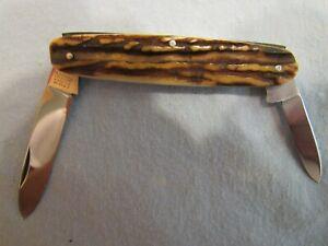 Vintage  Jurgen Moede Handmade Equal End Stag  Folder Unused. Excellent