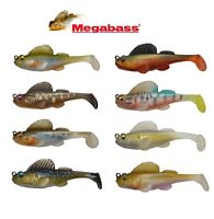 "MEGABASS DARK SLEEPER SOFTBODY SWIMBAIT 3"" BASS FISHING LURE SELECT SIZE COLOR"