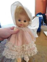 Doll Vintage Horsman 1971 Soft Rubber Sleep Eyes Girl Original Outfit Bonnet