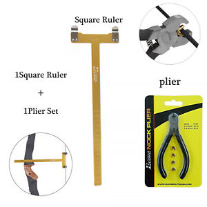Archery Nocking Buckle Pliers String Nock Points Adjusable T Bow Square Ruler