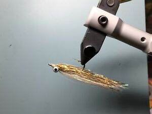 4QTY CLOUSER MINNOW SILVER SHINER  Fishing Flies size 04