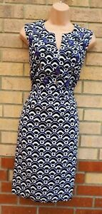 NEXT PURPLE WHITE BLACK BEADED FRONT SLEEVELESS TAILORED BODYCON PARTY DRESS 14