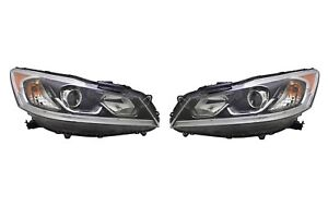 Left & Right Genuine Headlights Headlamps Pair Set For For Honda Accord 16-17