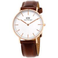 Daniel Wellington Classic St Andrews White Dial Leather Strap Lady Watch 0507DW