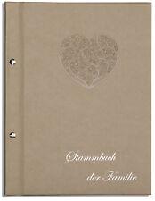 Din A4 Stammbuch der Familie Bene, Ornamentherz, goldenes Soft, Stammbücher