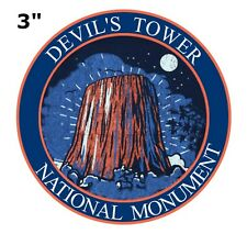 DEVIL'S TOWER National Park Patch Travel State Souvenir Embroidered Iron/Sew-on