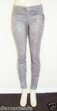 GUESS Women's Brittney Skinny Ankle Jeans with Snake Foil Print sz 30
