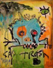 ABSTRACT Painting Graffiti Expressionist MODERN Wall Art Canvas SAD TRASH FOLTZ