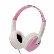 Groov-e Pink/White Kids Childrens Girls GV590PW Headphones Earphone Over The Ear