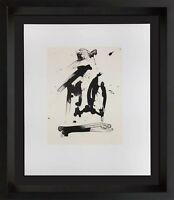 Robert MOTHERWELL Lithograph ORIGINAL Ltd ed w/Cat. Ref. b387.18 w/Frame
