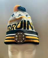 BOSTON BRUINS STARS GRAPHICS CUFFED KNIT POM HAT by OTH