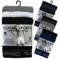 3-6 Pairs Men Plain Boxer Underwear Classic Cotton Rich Boxers Shorts S - 6XL