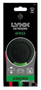 Lynx 3D Hanging Car Air Freshener Freshner Fragrance Scent - AFRICA