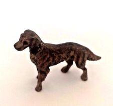 100% Antique Vienna Austria Cold Painted Bronze Dog Figurine Small Size