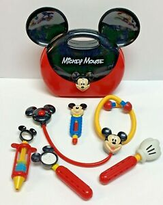 Disney Store Mickey Mouse Doctors Bag Kit Play Set Toy w Sounds Case Instruments