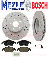Mercedes-Benz FRONT BRAKE KIT  2 Front Disc Brake Rotors Meyle PADS SENSOR