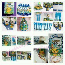 158pcsKids Pokemon Birthday Party Supplies Favor Tableware Decoration PlateGift
