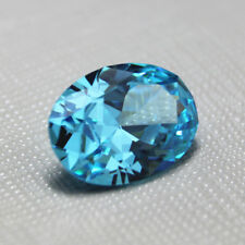 Sea Blue Sapphire 7.56ct 10x12mm Oval Cut Shape AAAAA VVS Loose Gemstone